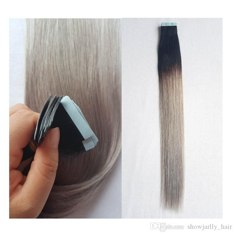 22inch Tape On Hair Extensions Human Hair 50gpack Ombre Hair