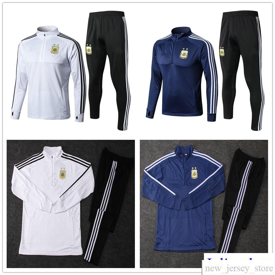 90acbbaa82e 2018 World Cup National Argentina Long Sleeve Training Suit Soccer ...
