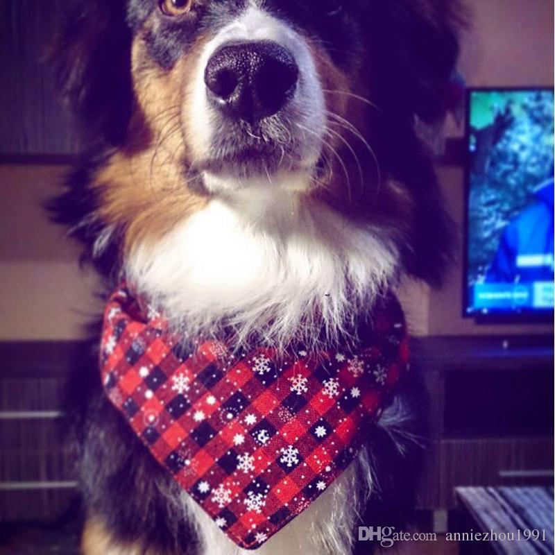 /pack Christmas Snowflake Pet Dog Bandana Cat Triangular Bandage Bib Towel Dog Scarf for Small Medium Dog New Year Gift Pet Accessories
