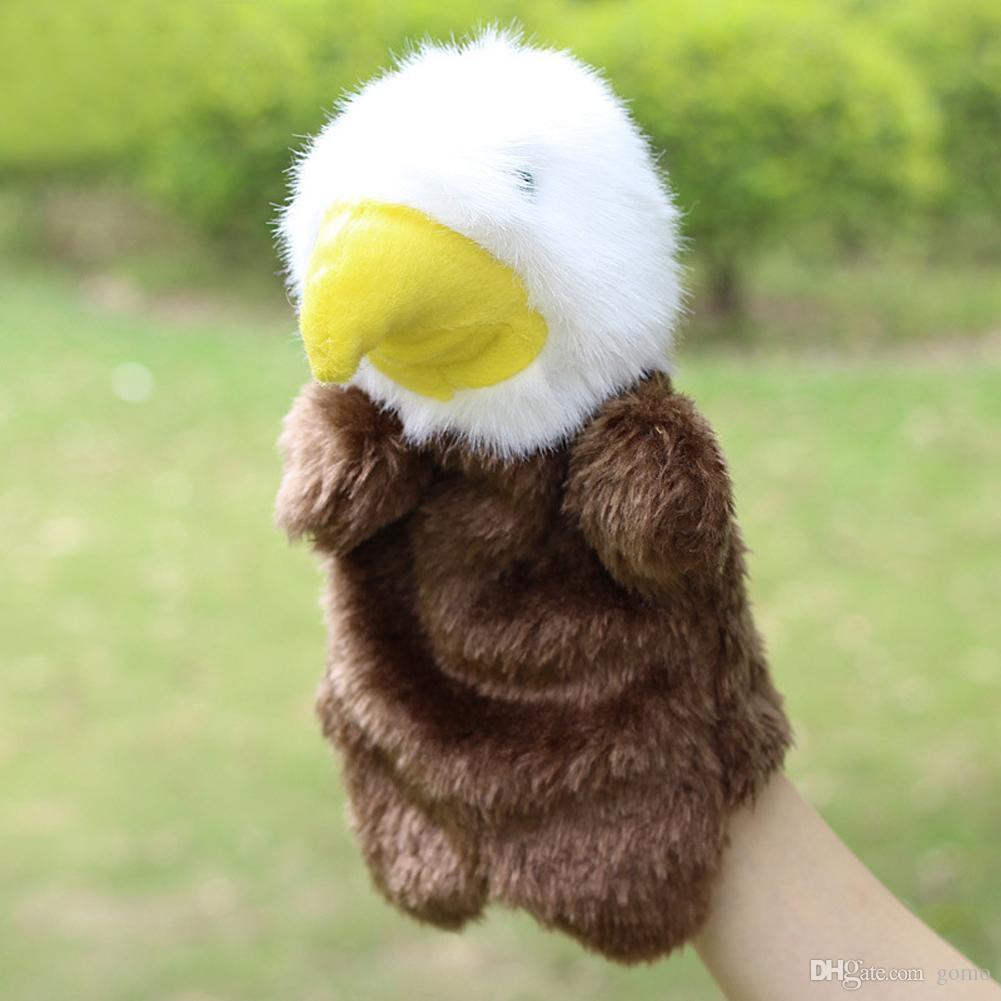 Eagle Hand Puppet Baby Kawaii Cartoon Animal Soft Plush Toy Kids