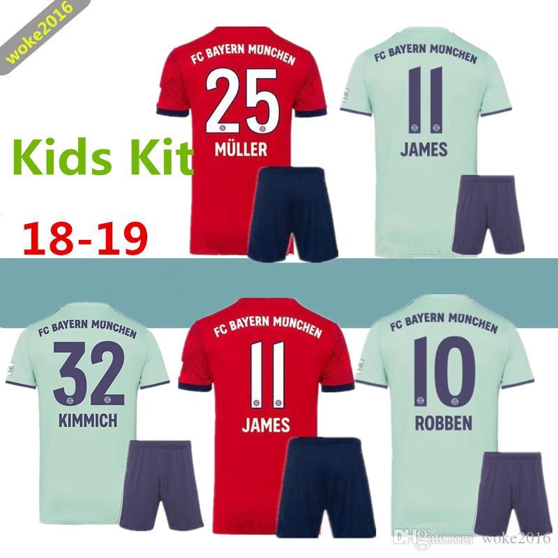 Compre 2018 2019 Bayern Munich FC Ropa De Fútbol Hummels Camiseta Para  Niños Set 9 Robert Lewandowski 11 Camiseta De Fútbol James Rodriguez Roja U  A  13.8 ... 4855866360743