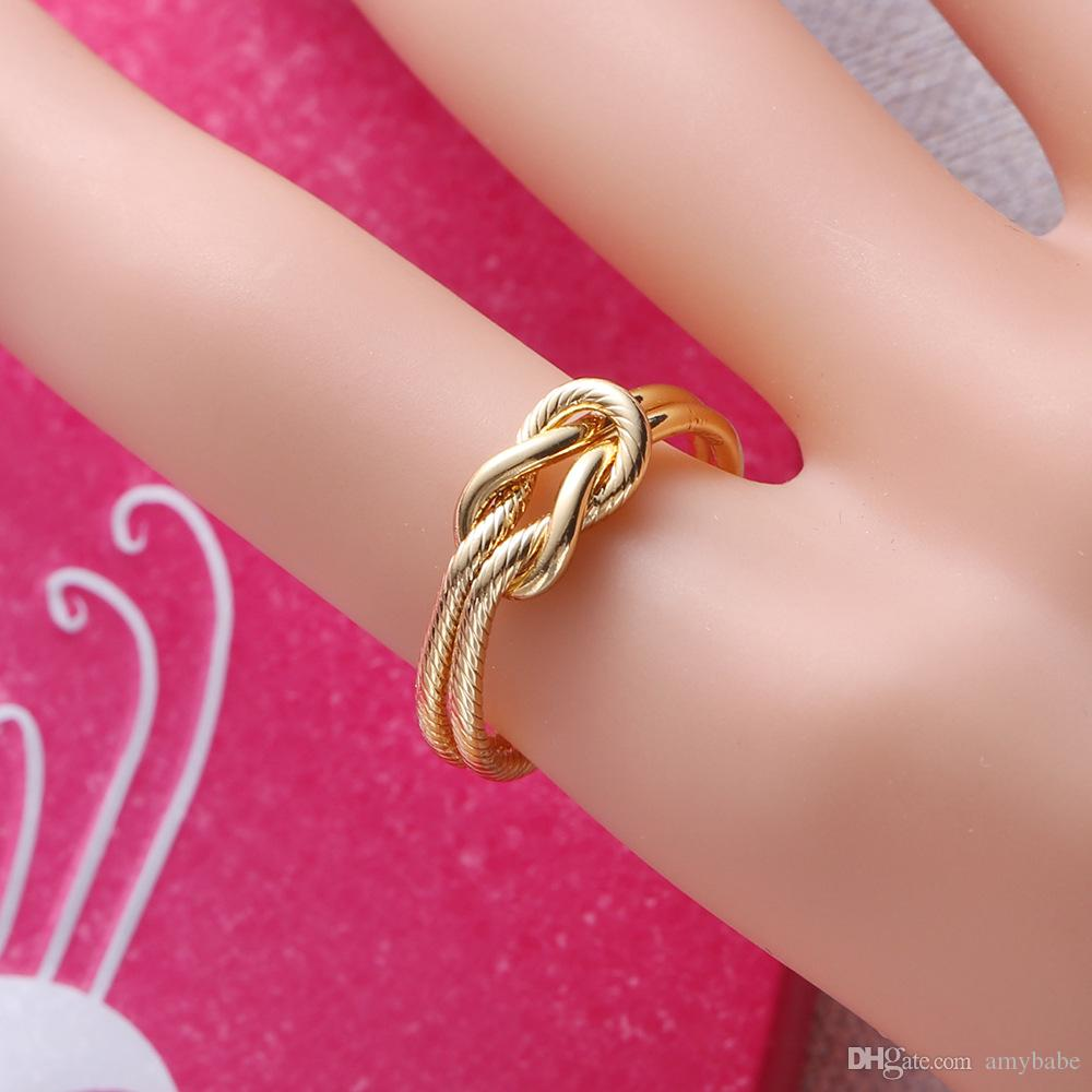 Fashion Infinite Symbol Double Rings Ring Eco Friendly Copper Plated ...