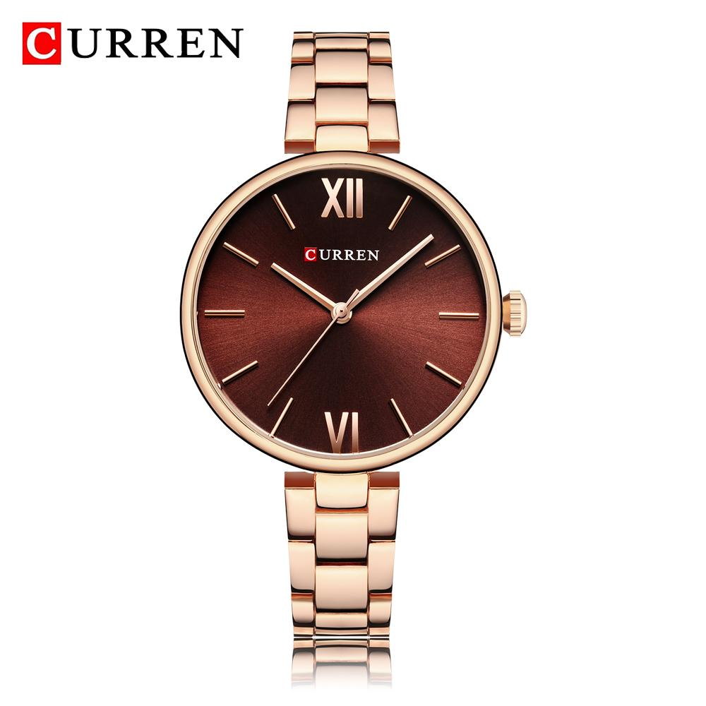 445e5f1e66f5b Acheter CURREN 2018 Mode Femmes Noires Montres Top Marque De Luxe Classique Femme  Montre Bracelet Casual Simple Quartz Dames Montre Bracelet Horloge De ...