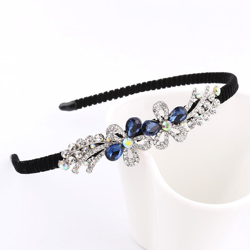 Lega Strass Bow Flower Butterfly bambini Donne fascia Cute Girls Blue Festival Moda Accessori capelli Bella copricapo