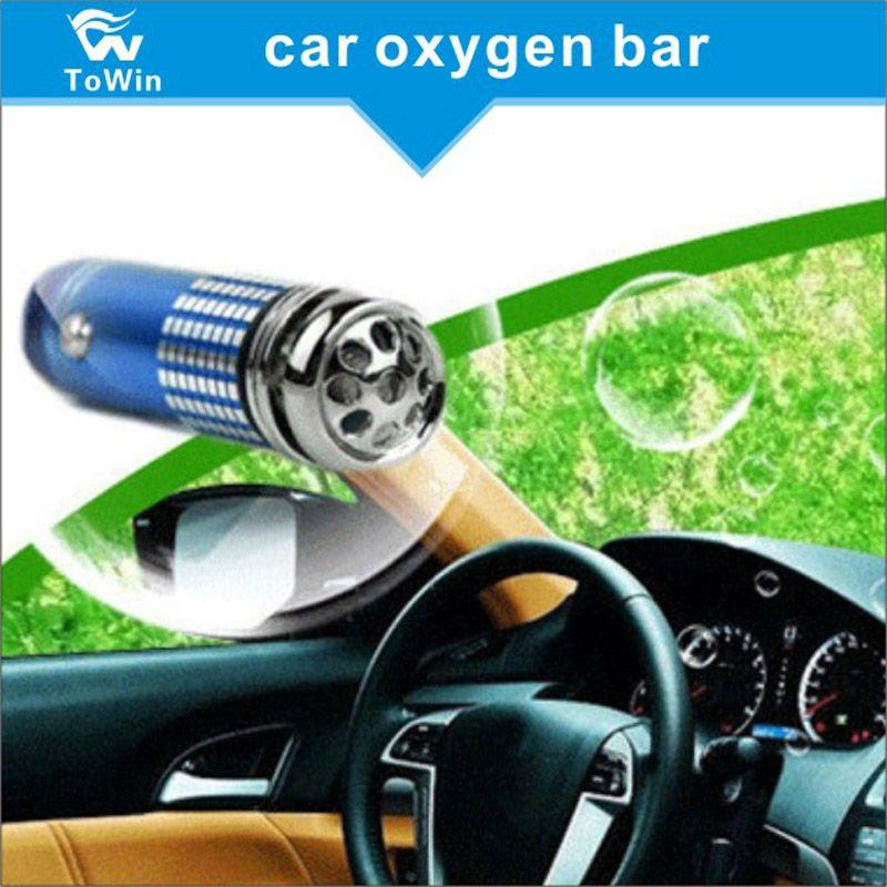 Top quality ,12V Car Oxygen Bar Mini Auto Car Anion Ozone Generator Air  Cleaner Purifier Filter Ionizer Oxygen
