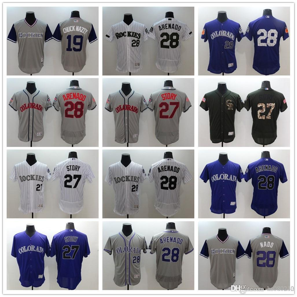 034c2018217 ... uk 2018 mens colorado rockies 28 nolan arenado 17 todd helton 19  charlie blackmon 27 trevor