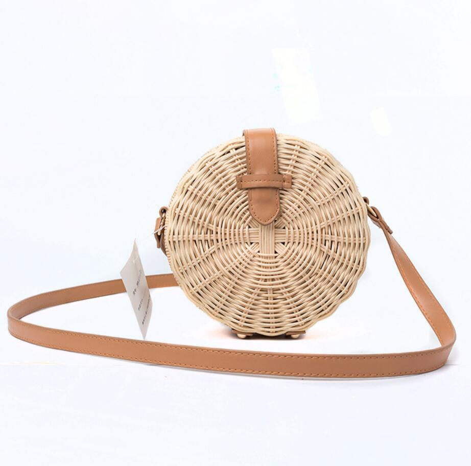 Wholesale Newest Bali Vintage Handmade Crossbody Leather Bags Round