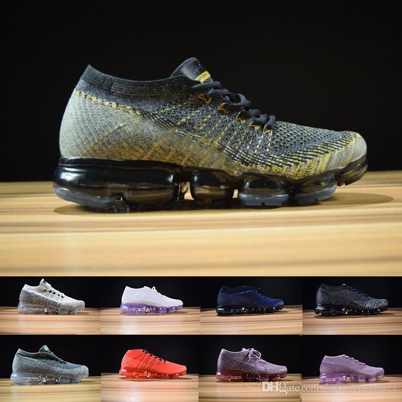 ae6db8b7ba7 Acheter Remise Vapormax Hommes Chaussures De Course Noir Blanc Pour Hommes  Sneakers Mode Athlétique Sport Chaussures Corss Randonnée Jogging Chaussures  36 ...
