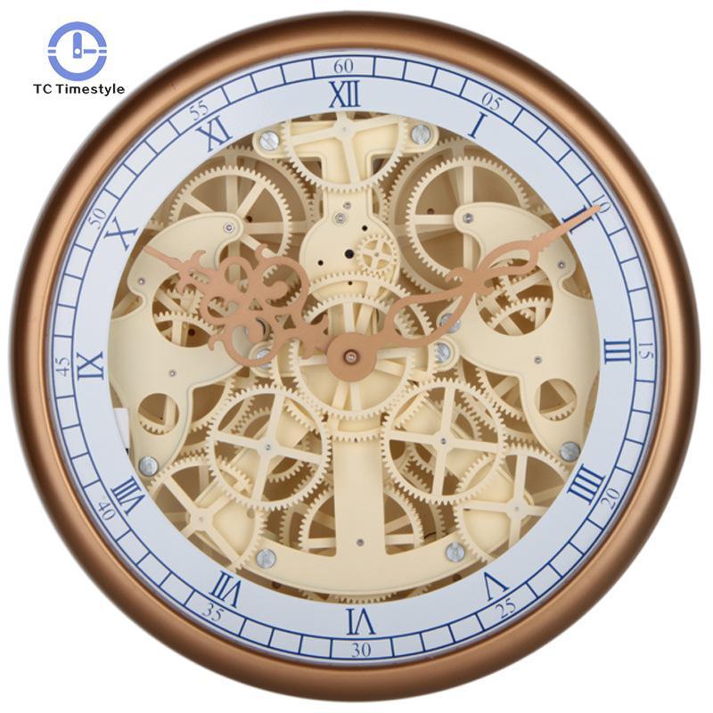 fe598c4e66d Compre Relógio De Parede Perspectiva Engrenagem Mecânica Relógios Retro  Relógios De Parede Personalidade De Cabeceira Design Moderno Home Decor De  Oopp