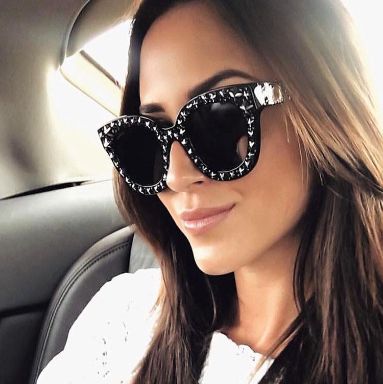 b900b50f06 2018 Personality Full Sky Star Jelly Color Square Fashion Dazzle Colorful  Ocean Film Sunglasses Lovely Smart Sunglasses Glasses Online Polarized  Sunglasses ...