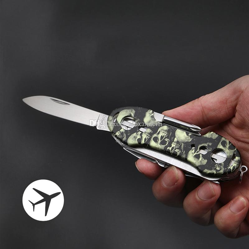High Quality Swiss Knife Stainless Handle Survival Knife Multifunction Outdoor Tactical Rescue Army Tools Folding Hunting Pocket Knives