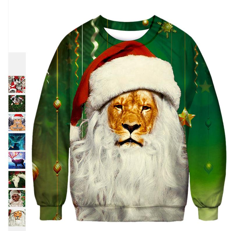 15dcea7c Women And Men Tshirt Santa Claus 3D Digital Printing Womens Designer T  Shirts Loose Clothes Christmas Costume Tee Shirt Femme Mens T Shirt Cool  Tshirt ...