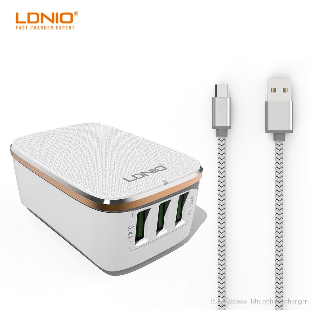 Ldnio 3 Usb Ports Us Plug Fast Mobile Phone Travel Charger With Car 34a Au Extral For Power Bank Charging Powerbank 5000mah From Ldniophonecharger