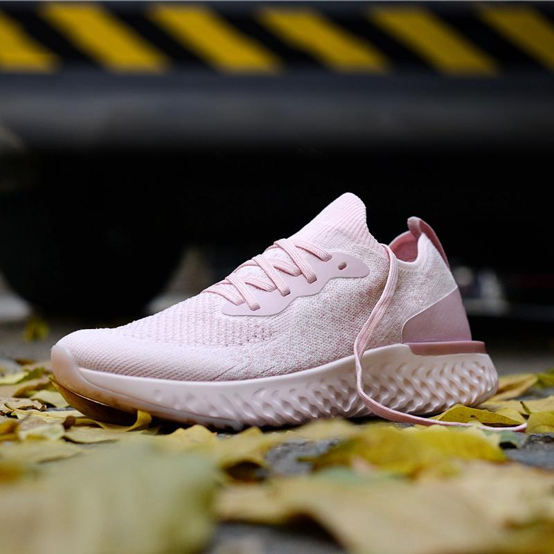 2018 Эпическая Реагировать модное лето вязать тройной черный белый Тренер Chaussure Спортивные кроссовки для женщин Мужские кроссовки дизайнер обуви