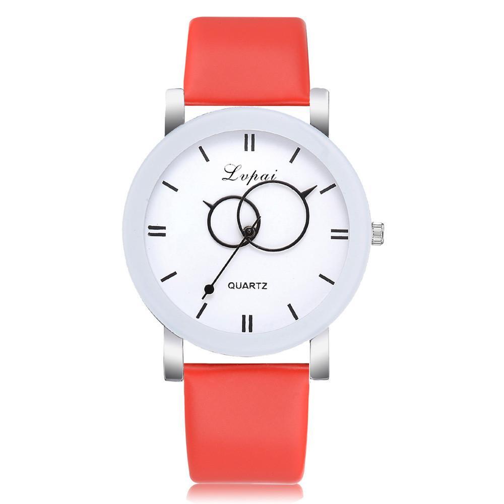 Compre Relógios Das Mulheres Top Marca De Luxo 2018 Vermelho PU Pulseira De  Couro Caso Liga Bonito Moda Casual Elegante Relógio De Pulso De Quartzo  Montre ... ae0cab2b41