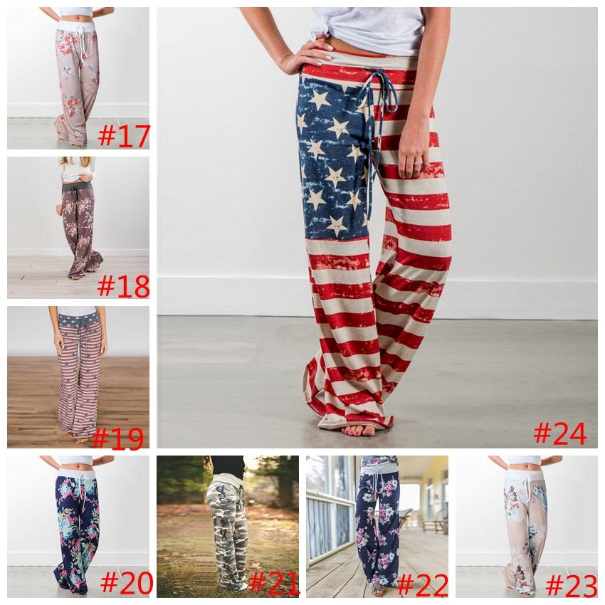 c55ccce63fe8 Yoga Fitness Wide Leg Pant Women Casual Sports Pants Floral Print ...
