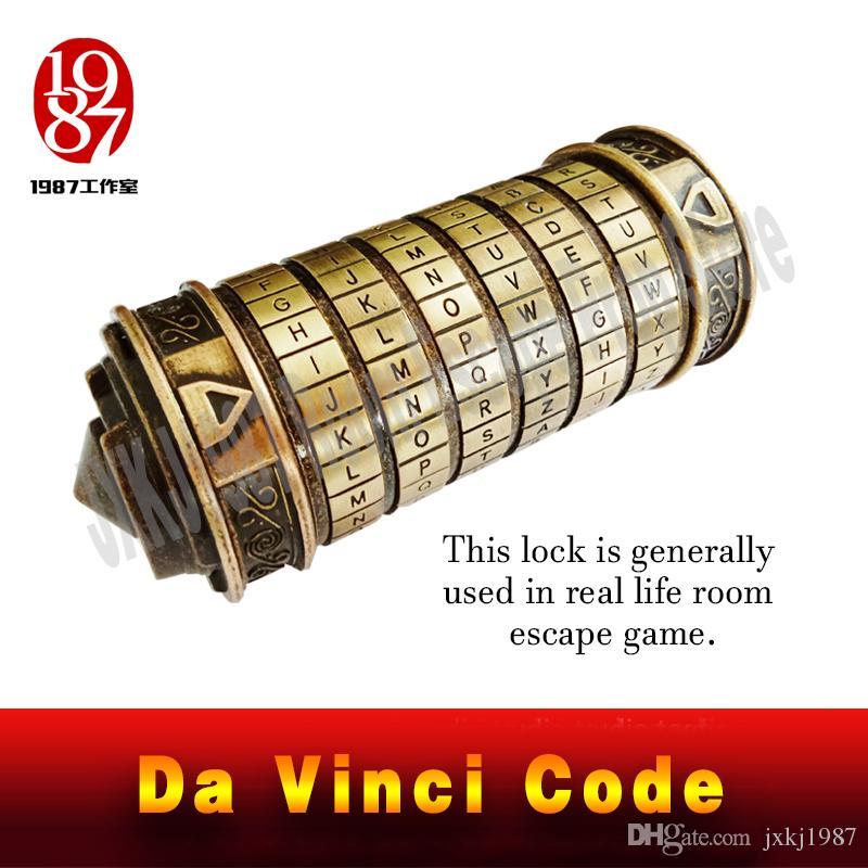 2018 real life room escape prop da vinci code lock davinci letter password lock gift ideas christmas gift to marry lover jxkj1987 from jxkj1987