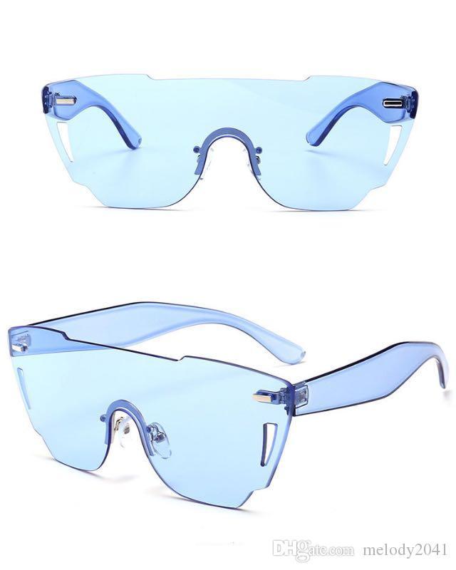 1ad059898c Colored Cut Trend Sol Frameless De Women Gafas Compre New One Candy j3R54qAL