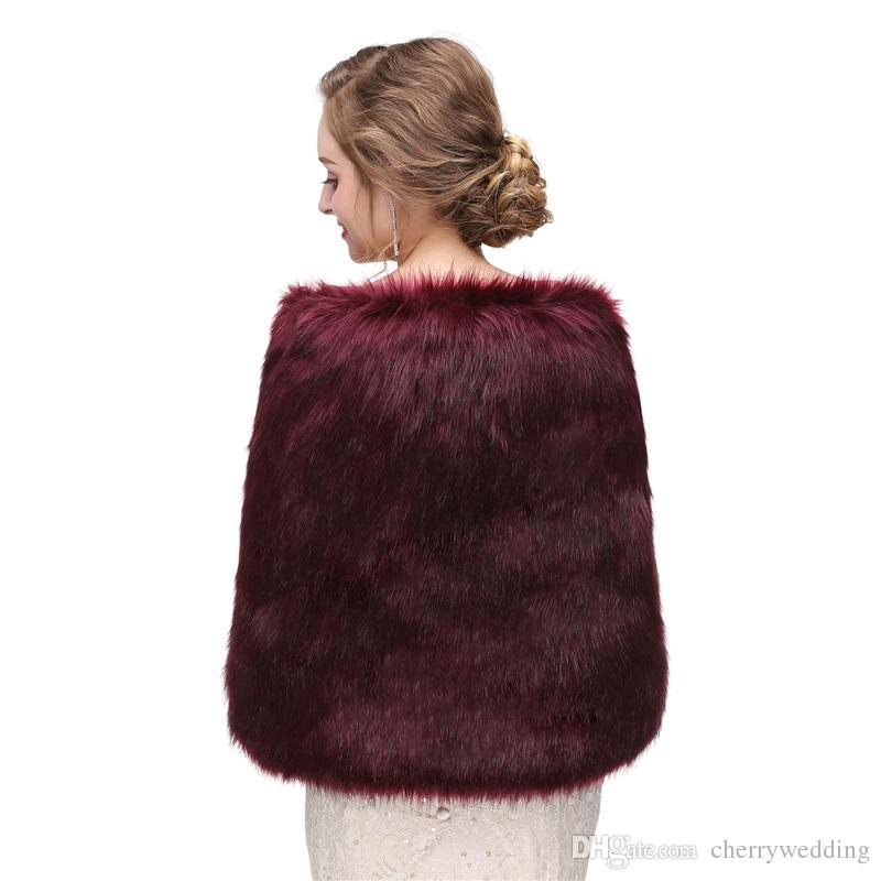 CMS10 Matrimonio rubato pellicce, involucro di pelliccia ecologica, spalline boleros avvolge sciarpe da sera scialli donne giacca da ballo festa serale