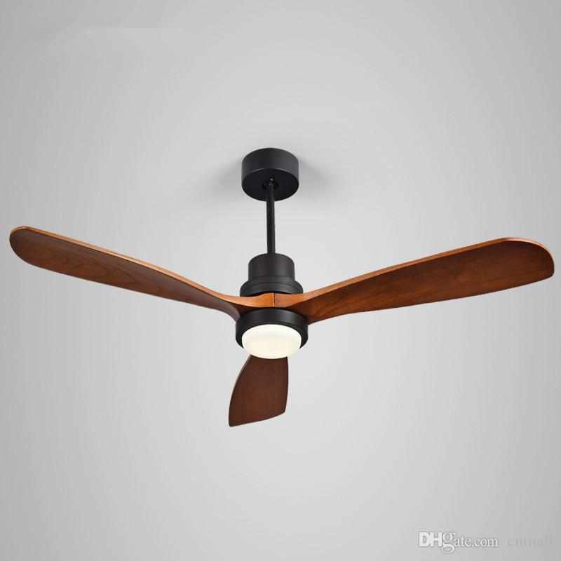2019 52 Inch Village Wooden Ceiling Fan With Lights Remote Control