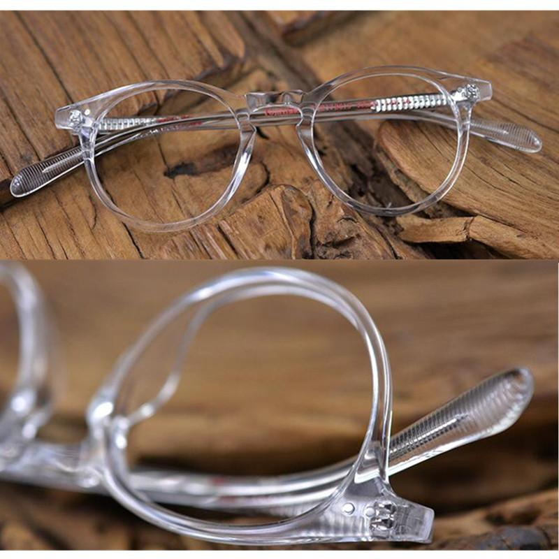 d5e8213c5e70 2019 Vintage Oval Round Hand Made Transparent Eyeglass Frames Full Rim  Glasses Men Women Spectacles Myopia Rx Able Top Quality From Dracaena