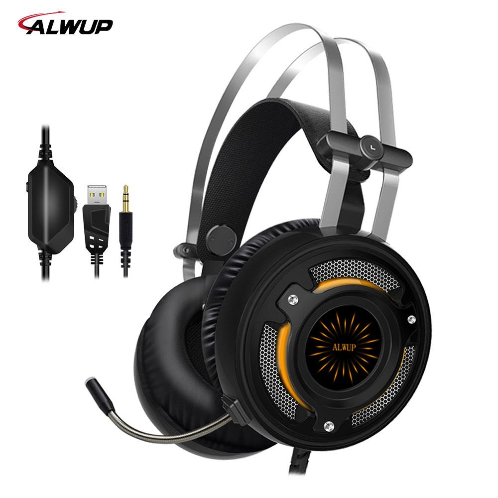 Alwup 2.2m Wired Gaming Headphone Ps4 With Mic Gaming Headset Xbox ...
