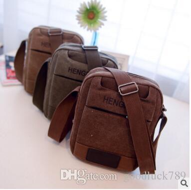 805943a841 2018 Korean New Men S Shoulder Bag Trend Casual Big Men Messenger Messenger  Bag Canvas Business Retro Mini Bag Cheap Purses Wholesale Handbags From ...
