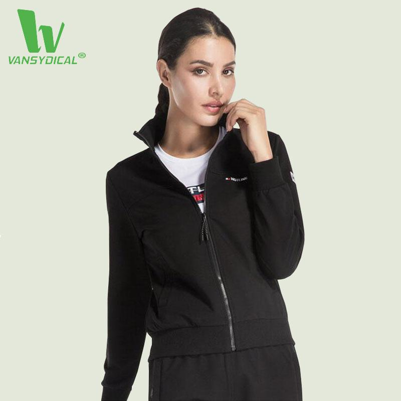 2019 VANSYDICAL Running Jacket For Women Yoga Zipper Long Sleeve Women  Sport Autumn Winter Jacket Fitness Ladies Stand Collar Jackets From  Onecherry bd3cebf08822