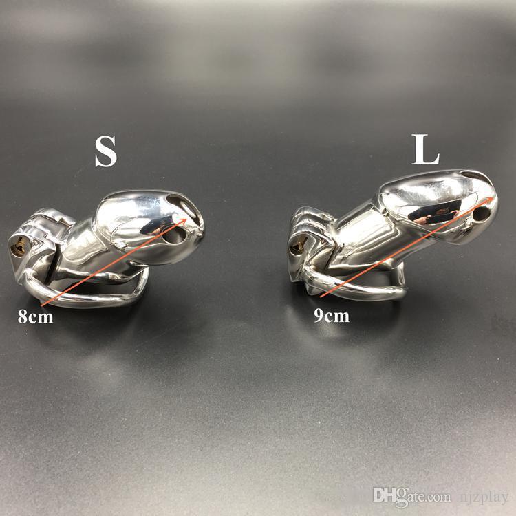 جديد العفة قفص المقاوم للصدأ أجهزة العفة ل bdsm اليدوية ht نسخة معدنية غير الملحومة قفص الديك للرجال