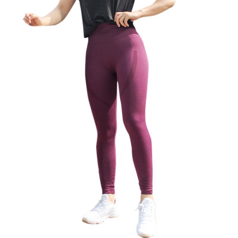 Compre Moda Feminina Leggings Esportivos De Cintura Alta De Alta Estiramento  De Fitness Legging Primavera Outono Calças Leggins Sportswear Activewear  2019 ... 8dd42f8a376b2