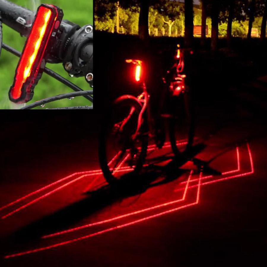 96dfe9264 Compre USB Bicicleta Luzes De Ciclismo À Prova D 'Água LED Lasers 3 Modos  De Bicicleta Lanterna Traseira Luz De Aviso De Segurança Bicicleta Rear  Bycicle ...