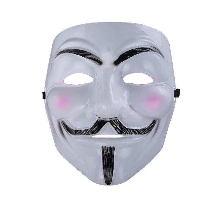 V para a máscara da vingança Fawkes anónimo Guy Fawkes Máscara extravagante do traje fresco extravagante para partidos, carnavais Um tamanho cabe a maioria de adolescentes aos adultos