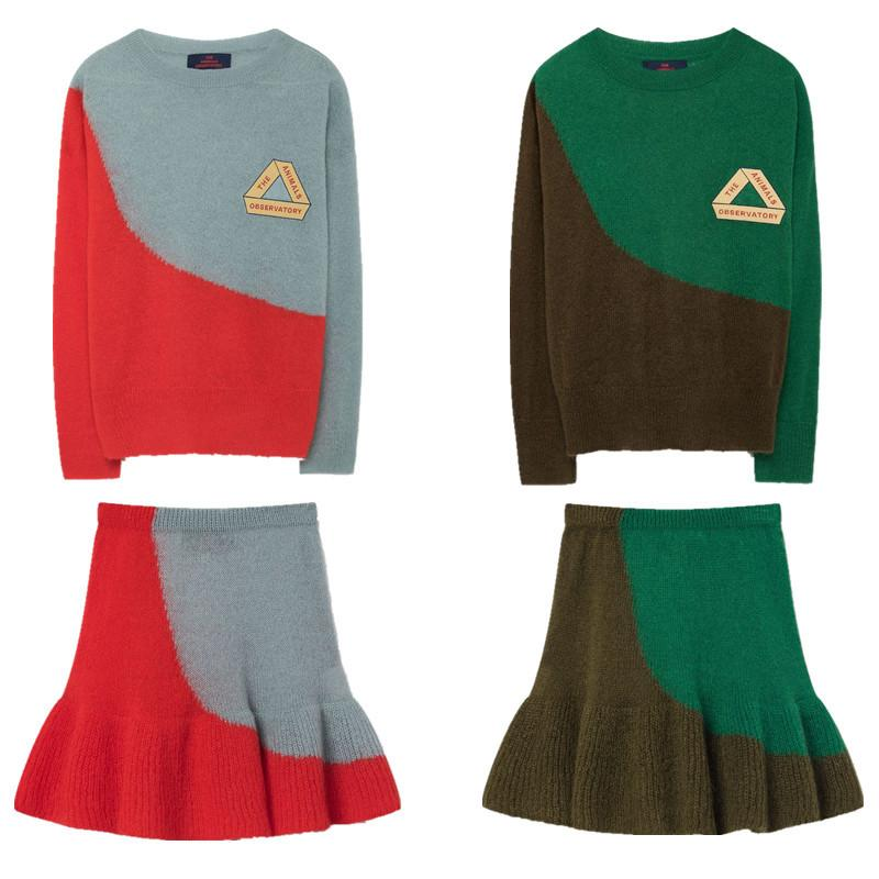 ae8423934 2019 Girls Clothing Set 2018 Autumn TAO Brand Long Sleeve Bicolor ...