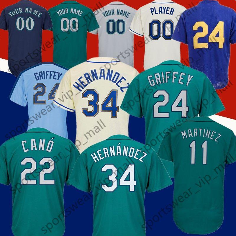 a3fe007a43 Compre Hombres Nelson Cruz Ken Robinson Cano Félix Hernández Edgar Martinez  IchiroSuzuki Noroeste Green Griffey Jr Camisetas De Béisbol Cosidas A   21.93 Del ...