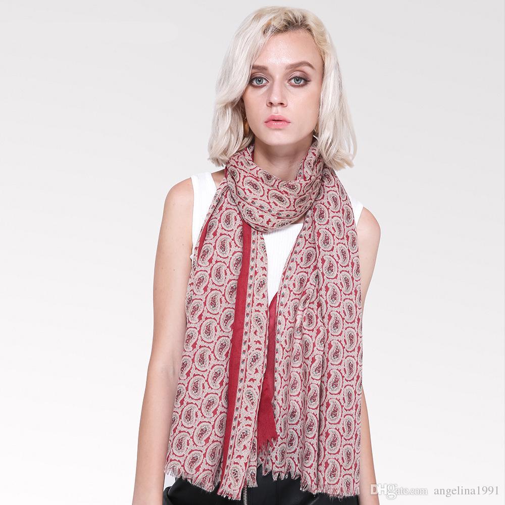 Spring Autumn Scarf Women Cashew Pattern Scarf Hijab Cotton Blends Thin  Soft Scarves For Female Wraps Shawl Foulard Femme Print Scarves Long Scarf  Women ... 865fdcf96771