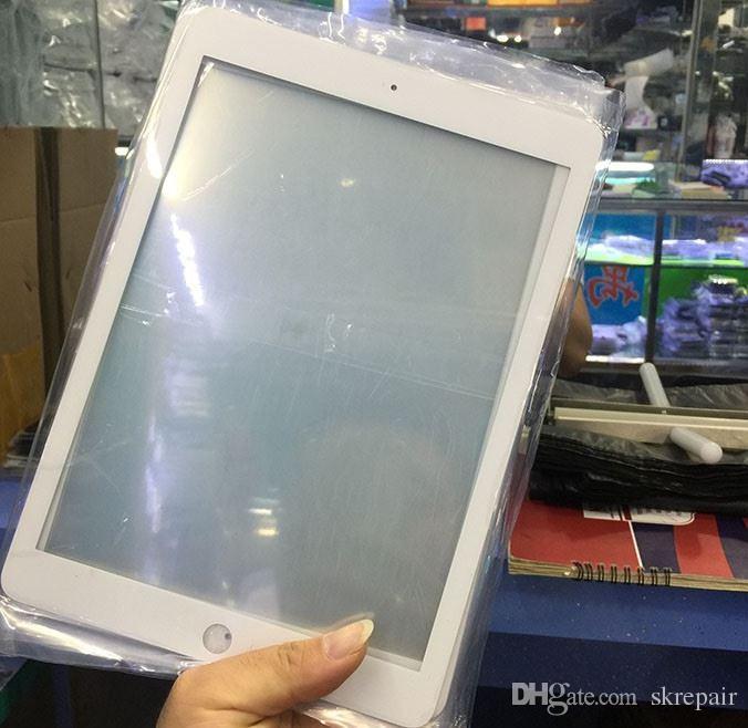 Tela LCD Frente Outer Lente De Vidro para Tablet PC para iPad 6 Ar 2 mini 4 9.7 10.5 12.9 polegada Repair Plate preto branco
