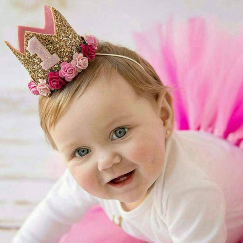 Cute Crown First Birthday Baby Party Hats Decor Cap One Hat Princess 1st Year Old Hair 30 Hollywood Supplies Homemade From