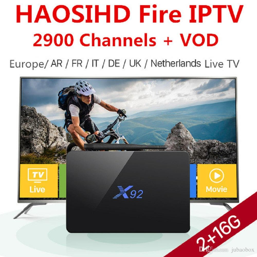 1 Year subscription europe arabic usa uk canada IT 2900 live tv iptv  channels Streaming IPTV Account work on android x92 tv box