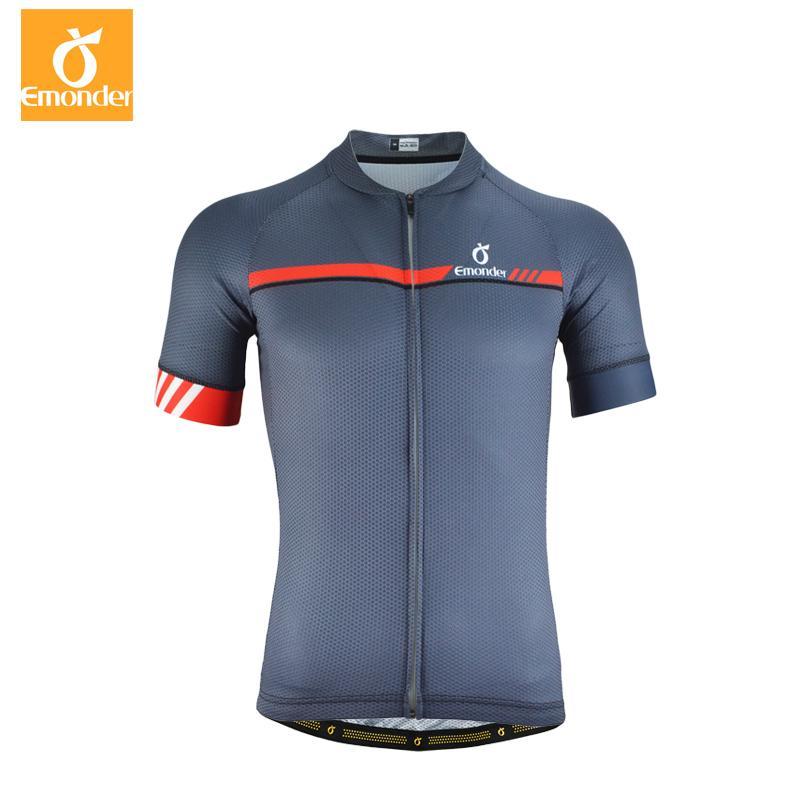 4ae102072 EMONDER Cycling Jersey Short Sleeve Men Pro Team MTB Road Bike ...