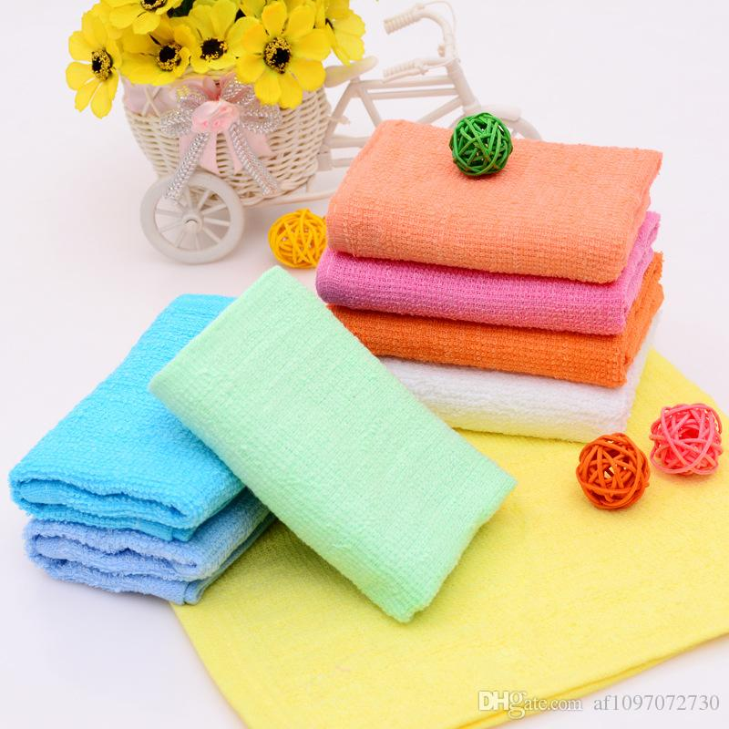 Colorful Small Square Towel 25x25cm Custom Gift Giveaway Cheap Towel Absorbent Hand Towel Hotel Cotton Napkin Handkerchief Kitchen Rag RE456