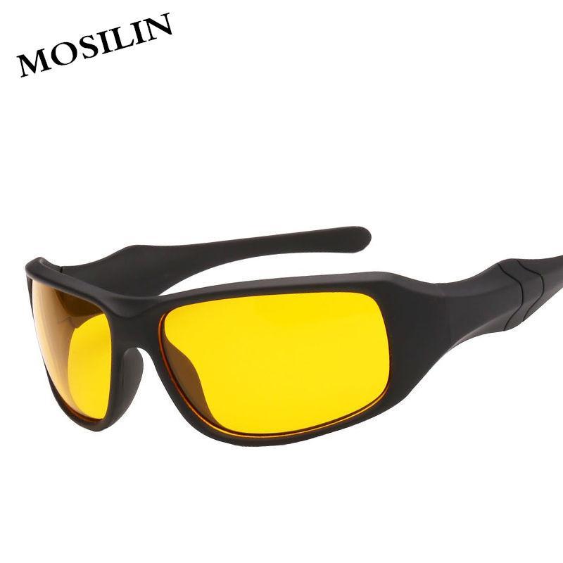 de5897b1ea2 MOSILIN Brand HD Hot Sale Night Driving Glasses Anti Glare Glasses For  Safety Driving Sunglasses Yellow Lens Bolle Sunglasses Electric Sunglasses  From Buete ...