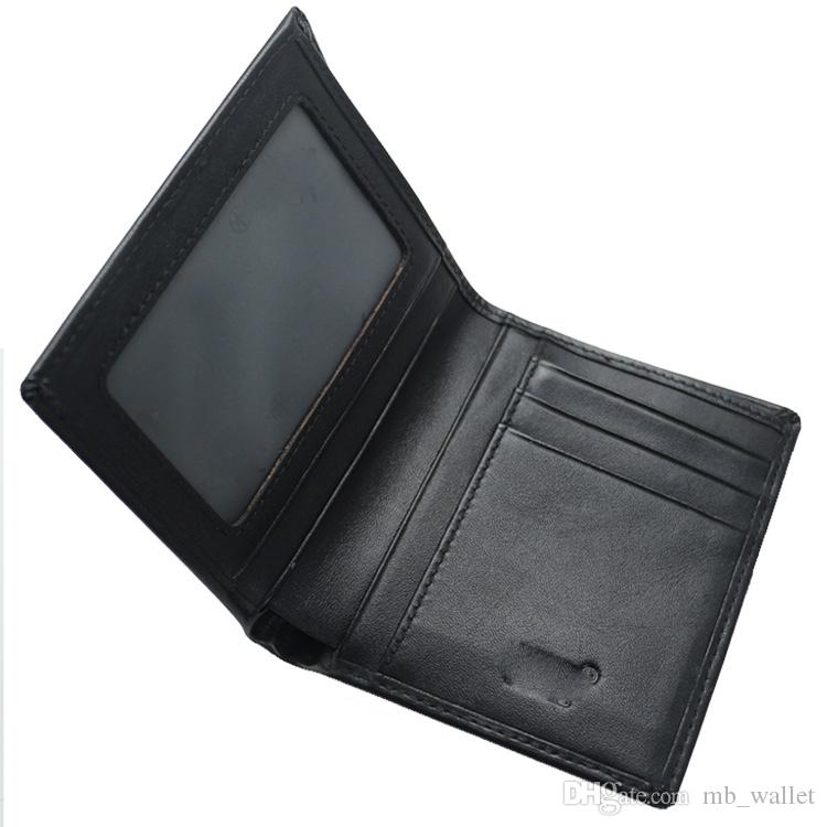 Men's luxury MB genuine leather wallets business card case black short square card holder collector's edition wallet