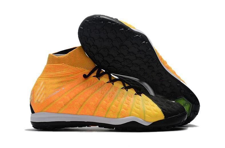 2018 Original High Ankle Top Football Boots Hypervenom Phantom III DF FG ACC Soccer Cleats HypervenomX Proximo TF IC AG Indoor Soccer Shoes