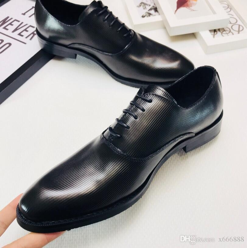 2018 Luxury Brand Classic Man Pointed Toe Dress Shoes Mens Patent Leather  Black Wedding Shoes Oxford Formal Shoes Big Size Brown Dress Shoes Leather  Shoes ... ad340d7e3656