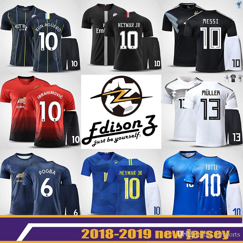 5b0dce5b0ec The World Cup football suits men custom kickball French club uniforms  soccer jersey kids The champions Barcelona Manchester united jersey