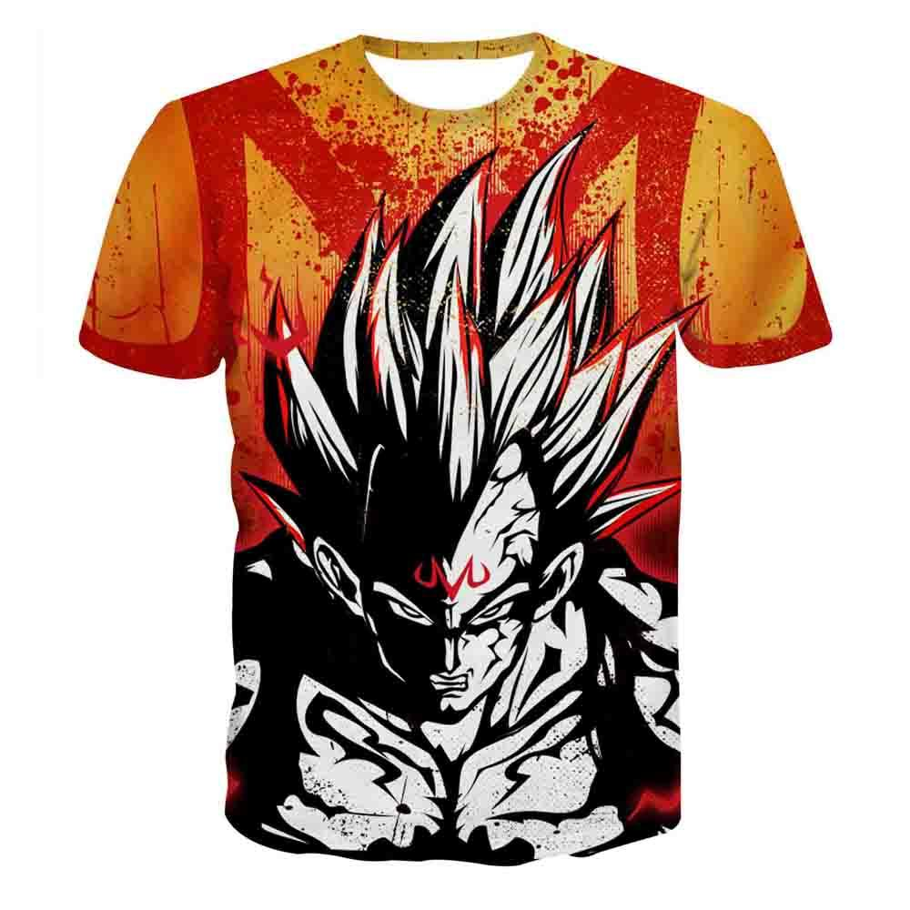 3D T-shirt Mens Womens Anime Tee Dragon Ball Z Print Super Goku T ...