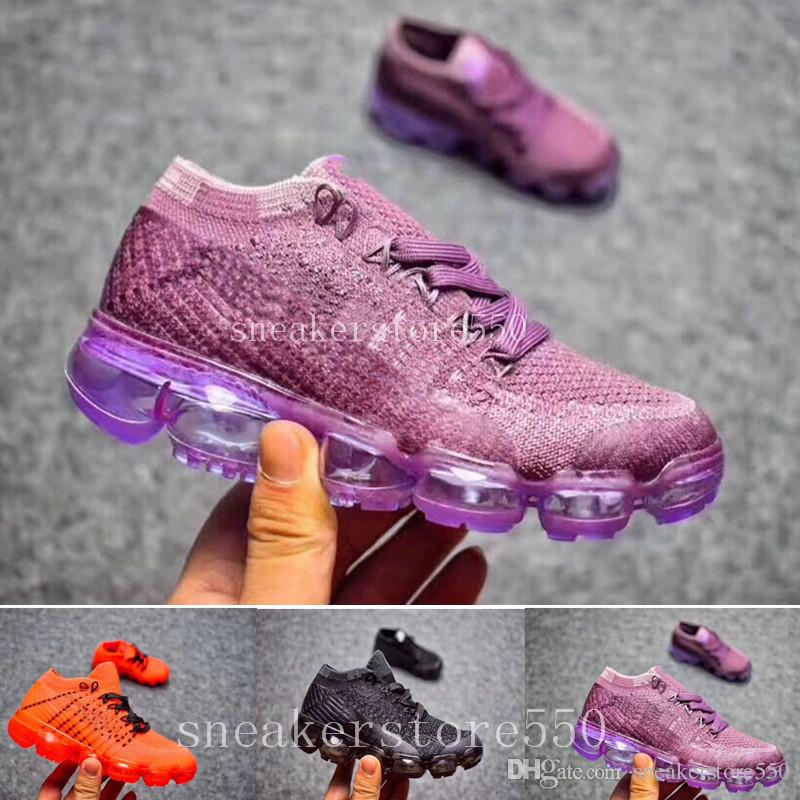 844258e00ae48 Compre Nike Vapormax 2018 Air Max Airmax 2018 Vapormax Zapatos Para Niños  Skate Niños Y Niñas Zapatos Casuales es Zapatos Para Niños Kid Sneakers Eur  28 35 ...