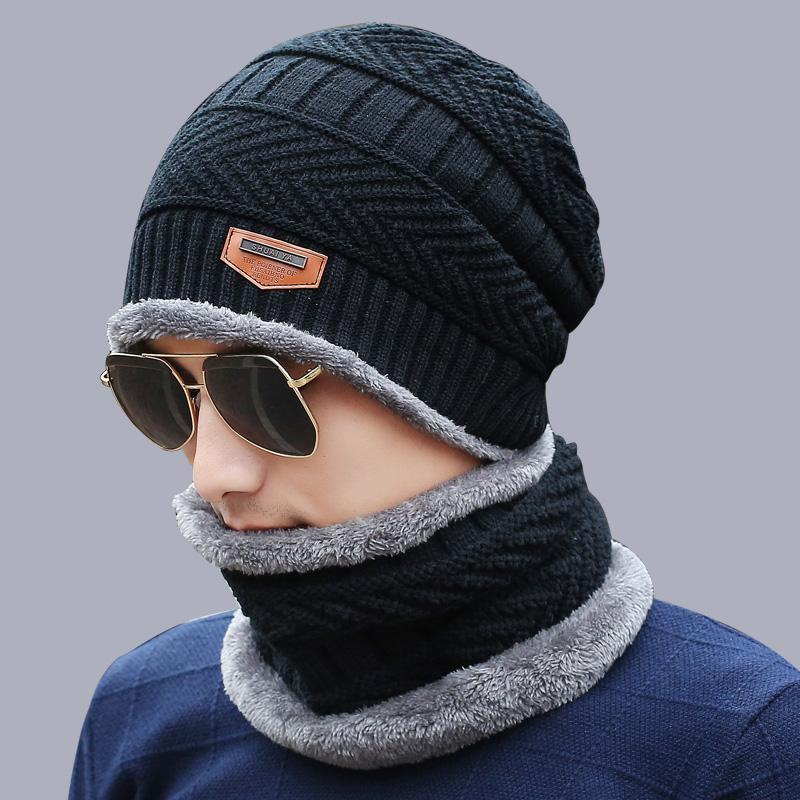 6dce5aeef45 2019 2018 Parent Child Knitted Hat Winter Cap For Men Women Knitted Hat  Scarf Set Fashion Thicken Warm Fleece Lined Bonnet Beanies From Vanilla12