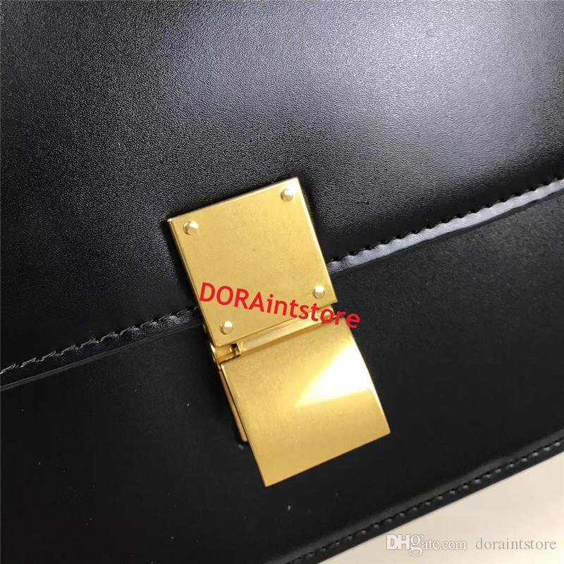 Горячая Весна женщины сумочка из натуральной кожи классический мешок в коробке телячьей кожи мешок популярные IT сумка с золотой аппаратные средства простой стиль пр