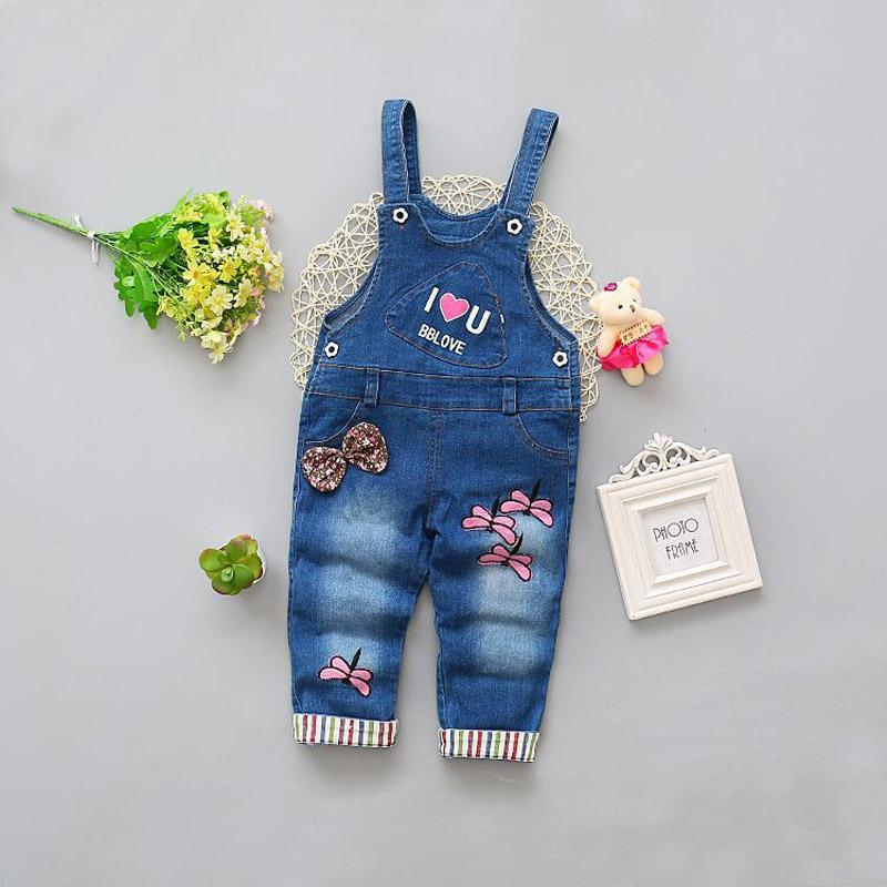 40c09754392e Baby Pants Girls Overalls Trousers Jeans Denim Jumpsuit Bib Pants Kids  Spring Autumn Children Jeans Jumpsuits Clothes Red Suspenders For Girls  Suspenders ...